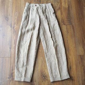 Vintage Gap menswear inspired linen trousers